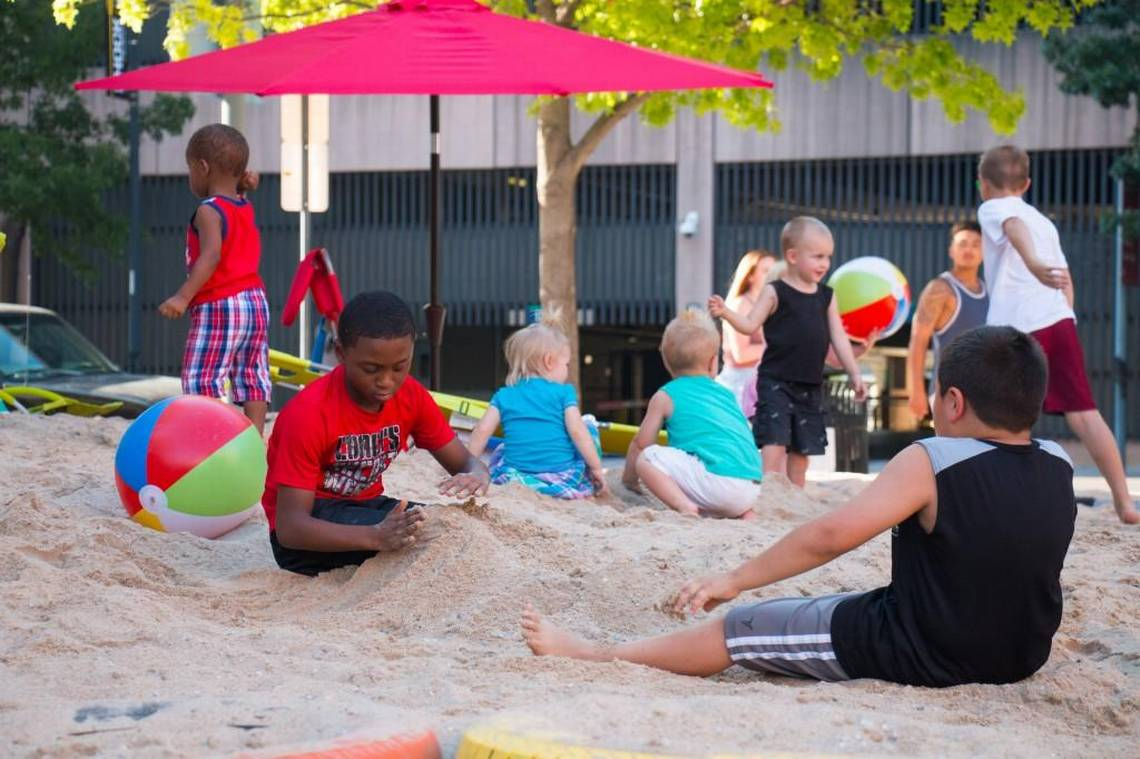 Downtown Wichita lacked a beach. So they made one.